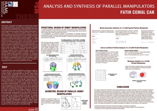 ANALYSIS AND SYNTHESIS OF PARALLEL MANIPULATORS_POSTER