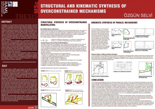 STRUCTURAL AND KINEMATIC SYNTHESIS OF OVERCONSTRAINED MECHANISMS